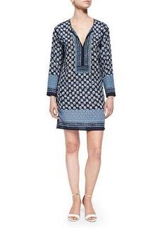 MICHAEL Michael Kors Keriya Floral-Print Tunic Dress, Blue
