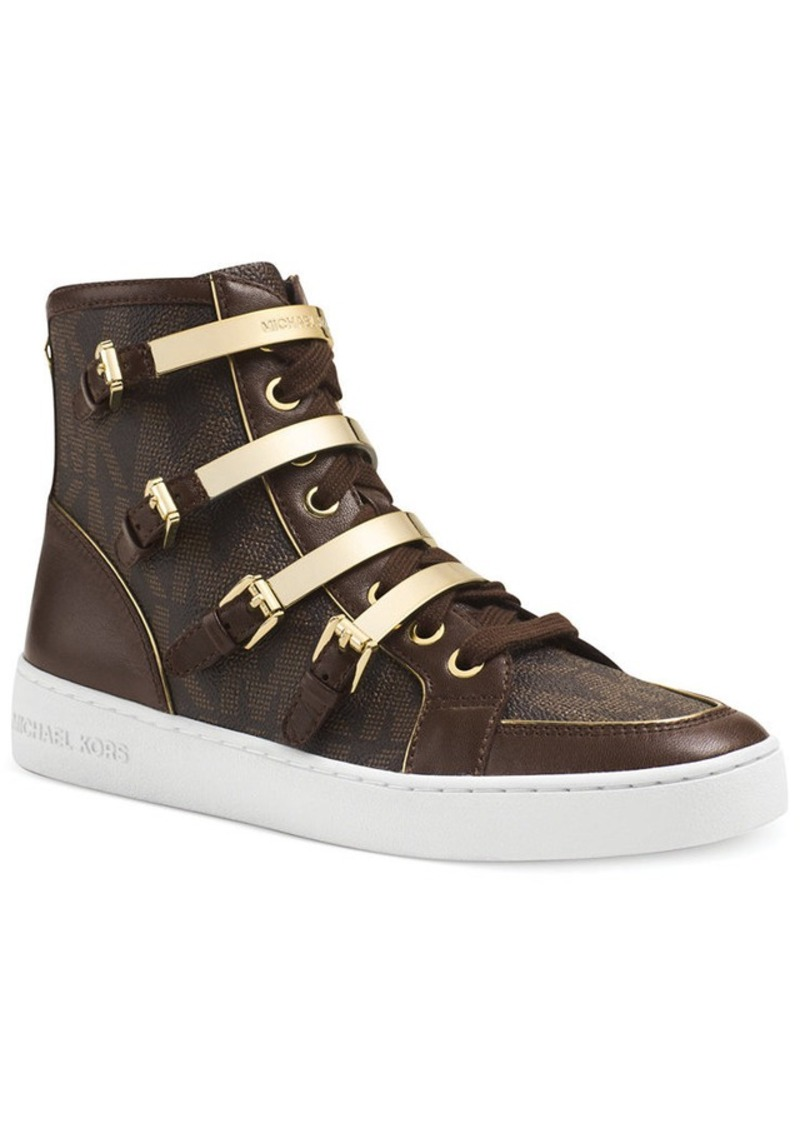 michael michael kors michael michael kors kimberly high top sneakers shoes shop it to me. Black Bedroom Furniture Sets. Home Design Ideas