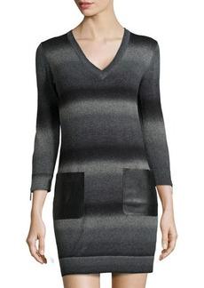 MICHAEL Michael Kors Knit Zipper-Cuff Sweaterdress