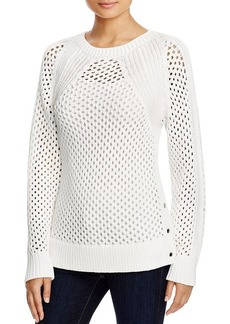 MICHAEL Michael Kors Knitted Mesh Sweater