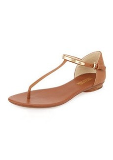 MICHAEL Michael Kors Kristen Leather Thong Sandal, Luggage