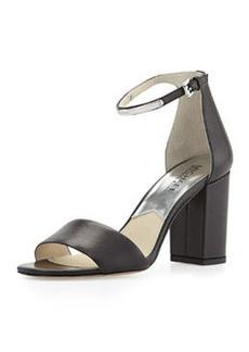 MICHAEL Michael Kors Kristen Open-Toe High-Heel Sandal, Black