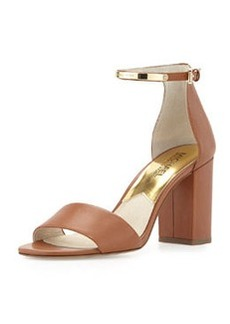 MICHAEL Michael Kors Kristen Open-Toe High-Heel Sandal, Luggage