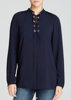 MICHAEL Michael Kors Lace Up Blouse