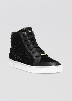 MICHAEL Michael Kors Lace Up High Top Sneakers - Nadine