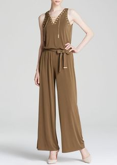 MICHAEL Michael Kors Lace-Up Jumpsuit