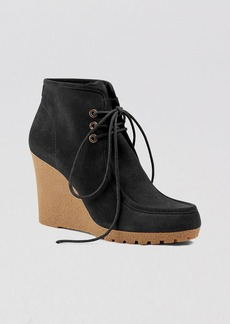 MICHAEL Michael Kors Lace Up Platform Wedge Booties - Rory