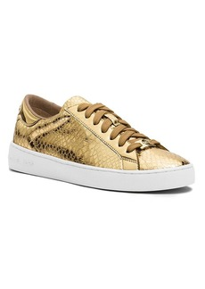 MICHAEL Michael Kors Lace Up Sneakers - Keaton Metallic Snake