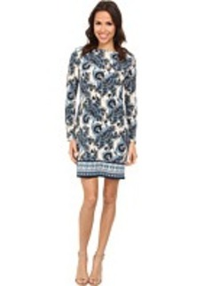 MICHAEL Michael Kors Lakheri Long Sleeve Boat Neck Border Dress