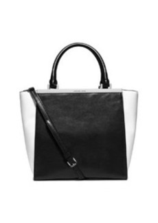 MICHAEL Michael Kors Lana Medium Colorblock Tote Bag, Black/Optic White