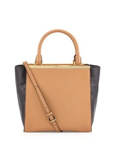 MICHAEL Michael Kors Lana Medium Colorblock Tote Bag, Suntan/Black