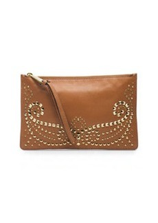 MICHAEL Michael Kors Large Rhea Studded Zip Clutch, Luggage
