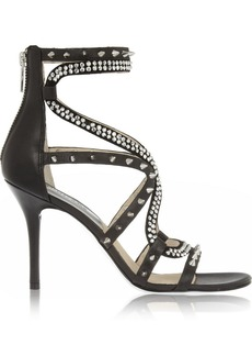 MICHAEL Michael Kors Larissa embellished leather and suede sandals