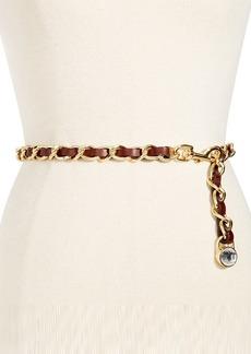 MICHAEL Michael Kors Leather Laced Chain Belt