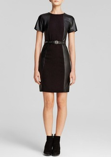 MICHAEL Michael Kors Leather Panel Dress