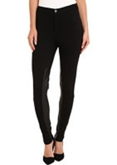 MICHAEL Michael Kors Leather Panel Seamed Pant