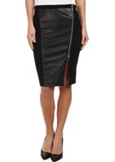 MICHAEL Michael Kors Leather Panel Zip Skirt