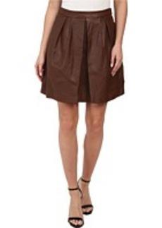MICHAEL Michael Kors Leather Pleat Skirt