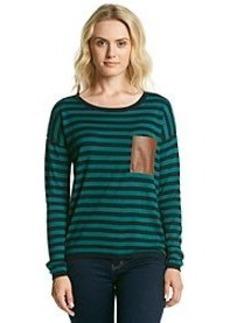 MICHAEL Michael Kors® Leather Pocket Striped Sweater