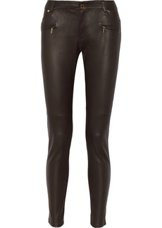 MICHAEL Michael Kors Leather skinny jeans