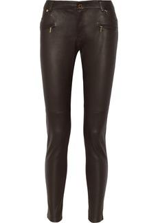 MICHAEL Michael Kors Leather skinny jeans
