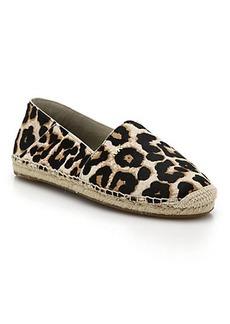 MICHAEL MICHAEL KORS Leopard-Print Calf Hair Espadrilles