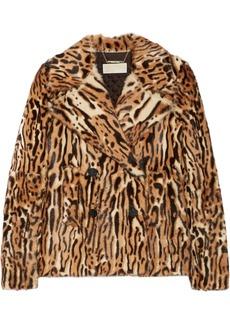MICHAEL Michael Kors Leopard-print goat hair jacket