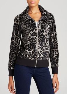 MICHAEL Michael Kors Leopard Print Jacket