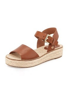 MICHAEL Michael Kors Lilah Leather Espadrille Sandal, Luggage