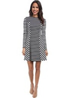 MICHAEL Michael Kors Lobamba Stripe Mix Dress