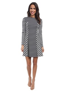 MICHAEL Michael Kors Lobamba Stripe Mix Dress