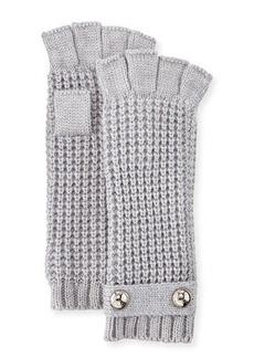 MICHAEL Michael Kors Logo-Button Fingerless Knit Gloves