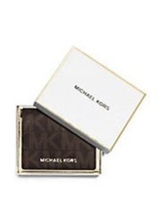 MICHAEL MICHAEL KORS Logo Flap Card Holder