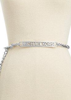 MICHAEL Michael Kors Logo Plate Chain Belt