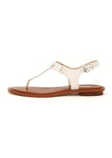 MICHAEL Michael Kors Logo-Plate Leather Thong Sandal