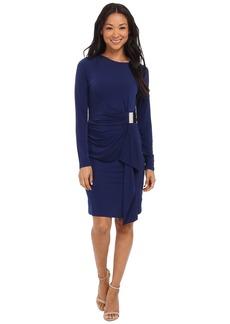 MICHAEL Michael Kors Logo Plate Trim Matter Jersey Dress
