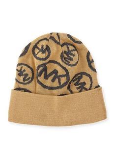 MICHAEL Michael Kors Logo-Print Cuffed Beanie Hat