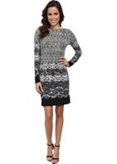 MICHAEL Michael Kors Long Sleeve Alderton Boatneck Dress