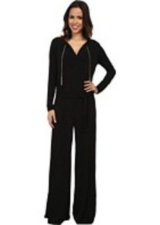 MICHAEL Michael Kors Long Sleeve Chain Neck Wide Leg Jumpsuit