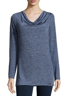 MICHAEL Michael Kors Long-Sleeve Cowl-Neck Melange Top