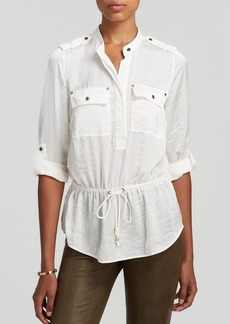 MICHAEL Michael Kors Long Sleeve Drawstring Waist Shirt