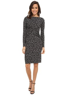 MICHAEL Michael Kors Long Sleeve Ellensburg Boatneck Dress