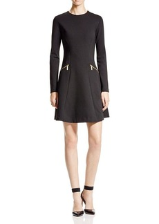 MICHAEL Michael Kors Long Sleeve Fit and Flare Dress