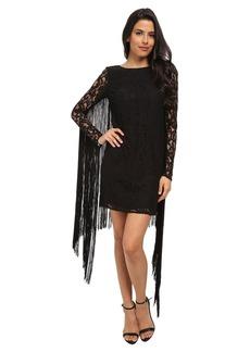 MICHAEL Michael Kors Long Sleeve Fringe Dress