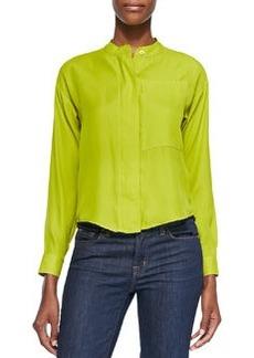MICHAEL Michael Kors Long-Sleeve One-Pocket Crop Top