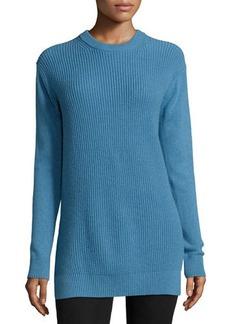 MICHAEL Michael Kors Long-Sleeve Shaker-Knit Cashmere Sweater  Long-Sleeve Shaker-Knit Cashmere Sweater