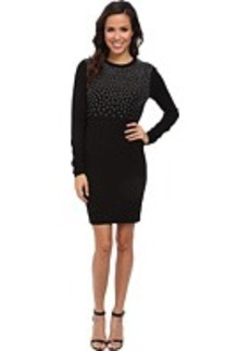 MICHAEL Michael Kors Long Sleeve Stud Sweater Dress