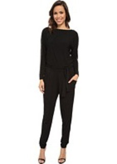 MICHAEL Michael Kors Long Sleeve Studded Boatneck Jumpsuit