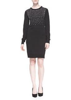 MICHAEL Michael Kors Long-Sleeve Studded Sweater Dress