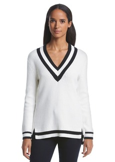 MICHAEL Michael Kors® Long Sleeve V-Neck Tunic Sweater